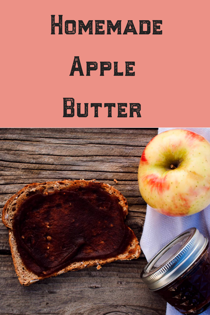 Simple and Easy Homemade Crockpot Apple Butter Recipe. Gluten, dairy and refined sugar free, this apple butter is perfect for Holiday gifts and can be enjoyed year round! Click here for the recipe and water bath canning instructions! #applebutter #homemade #sugarfree #christmas #apple #crockpot #simple #easy #recipe