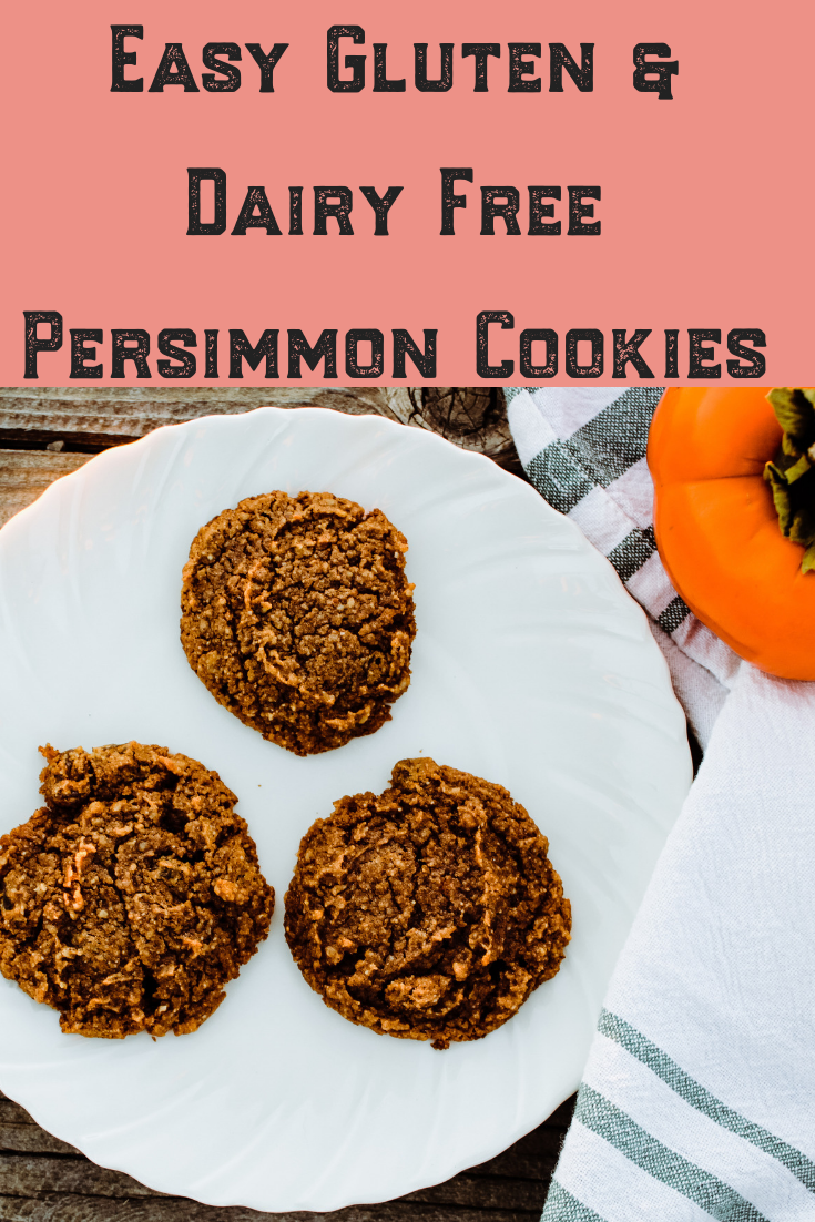 Looking for an easy and healthy persimmon cookie recipe for the holidays? These gluten and dairy free, keto cookies are the best for baking in the fall for family get togethers or to give as presents to friends! Try them out! #persimmon #easy #baking #glutenfree #dairyfree #cookies #keto #bake #heathy #best #recipe