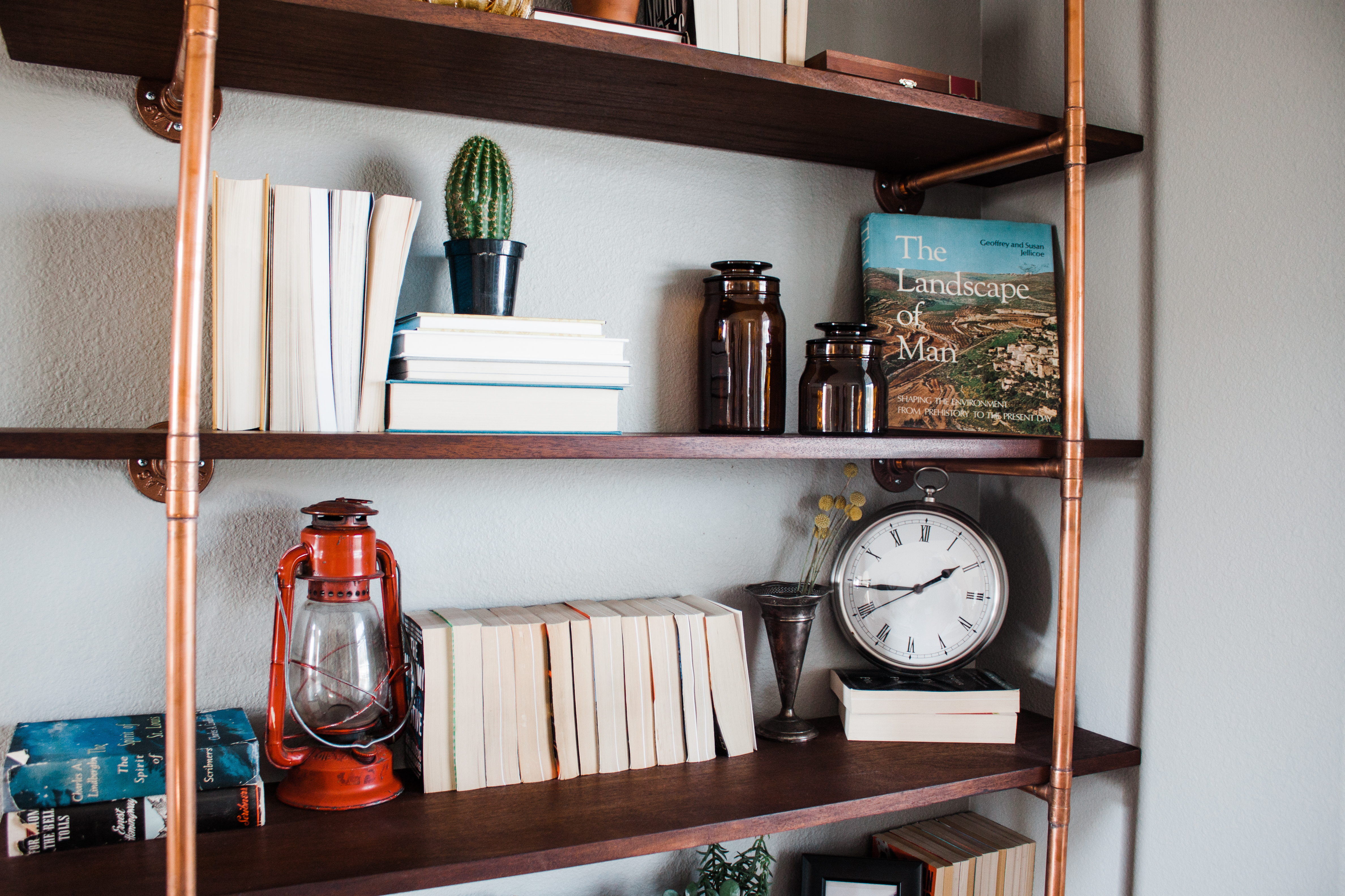 Diy Project Industrial Copper Bookshelves Wildflowers Ranch